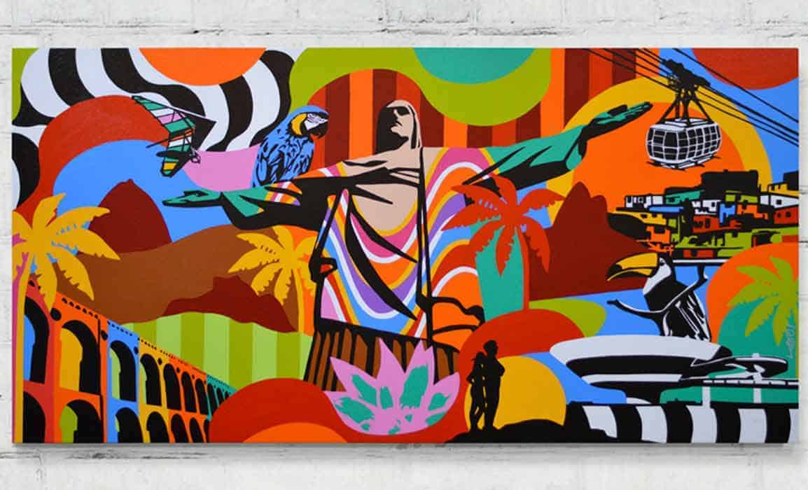 Artista Lobo Pop Art