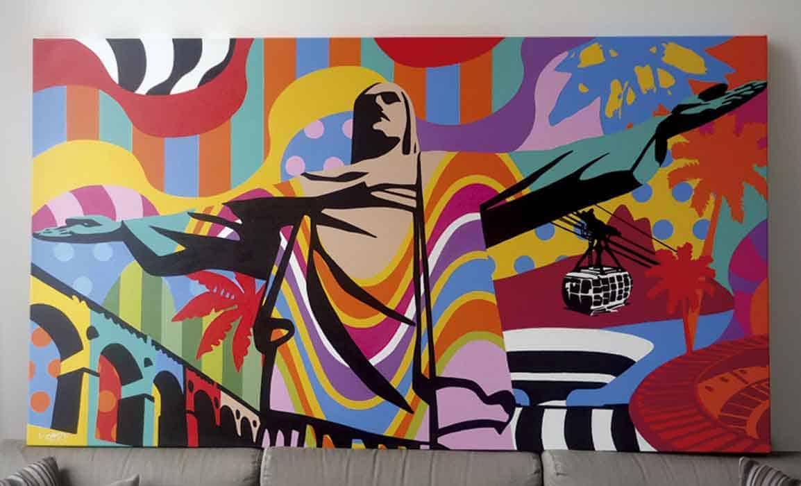 Quadros personalizados em pop art lobo pop art - Mobiliario pop art ...