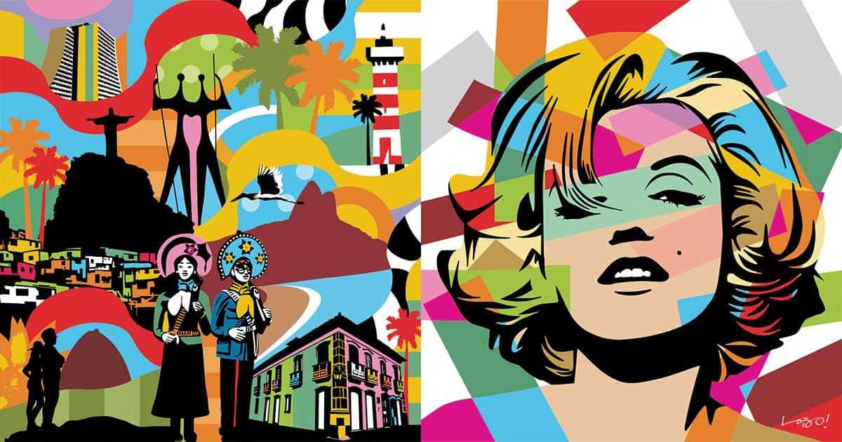 Conheça a Pop Art Brasileira do Artista Plástico Lobo