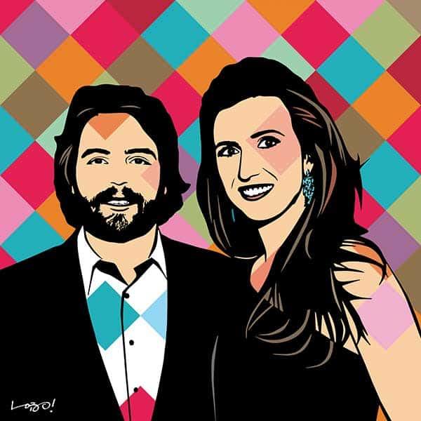 Constance Zahn e Tiago Pacheco