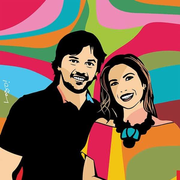 Patricia Abravanel e Fabio Faria