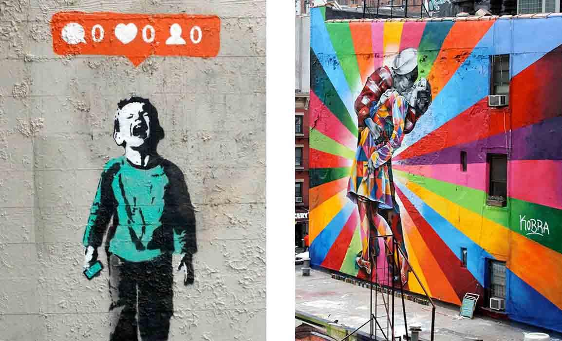Banksy e Eduardo Kobra