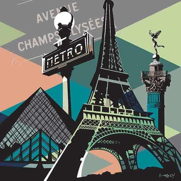 Quadro Paris Pop Art