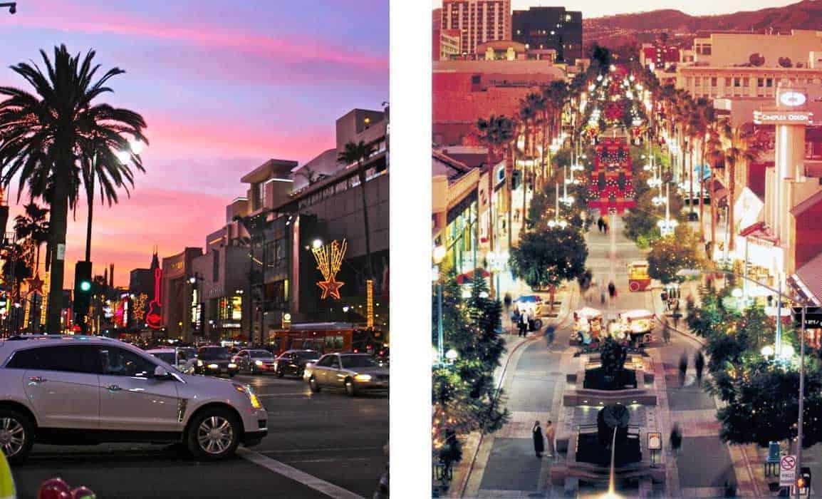 Hollywood Boulevard Promenade Santa Monica